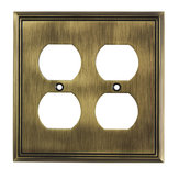 Switch plate Quadruple Receptacle - Contemporary Style