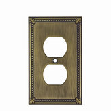Switch plate Double Receptacle - Traditional Style
